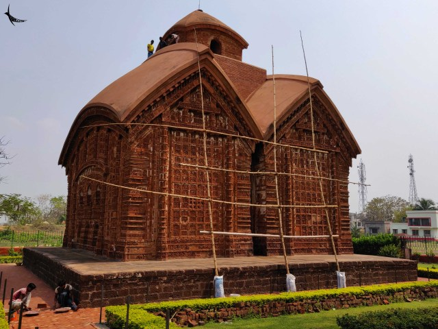 The Jor-Bangla Temple or Keshtaraya Temple is an example of Bangla architecture