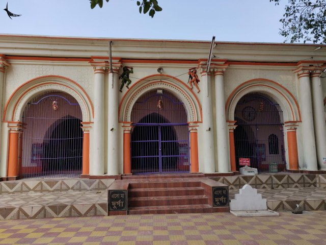 The renovated and painted Mrinmoyee temple