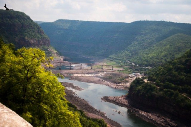Krishna river near Srisailam Dam