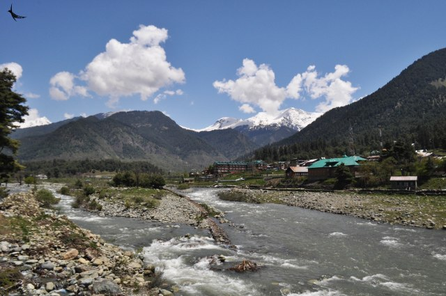 Lidder River in Pahalgam in Kashmir