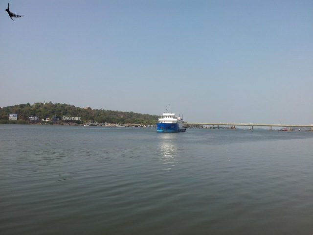 River Mandovi in Panjim, Goa