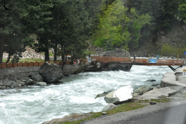 Sind River on the way to Sonemarg in Kashmir