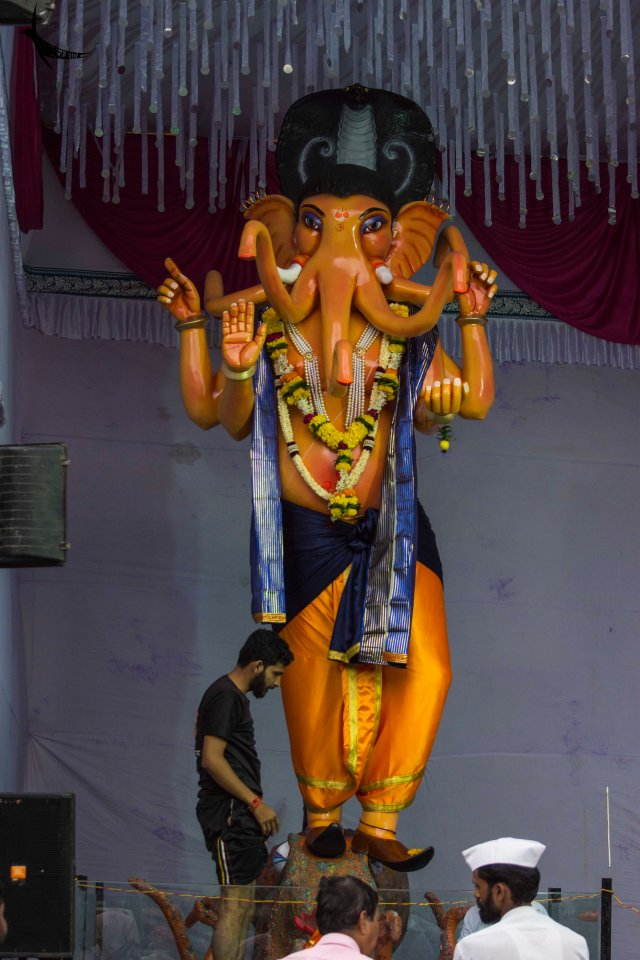 Ganapati of a mandap in Satara