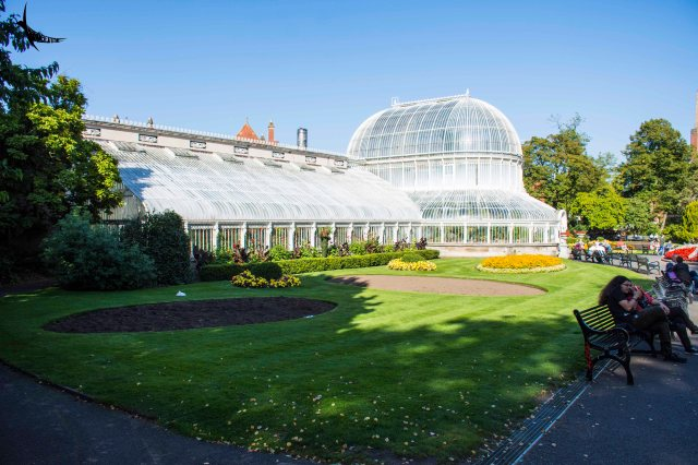 The Palm House in the Botanical Garden