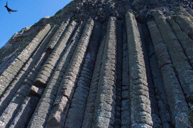 The vertical basalt columns