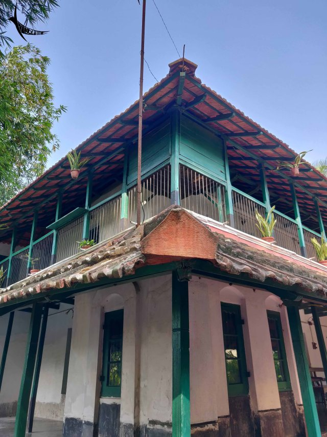 The Burmese-styled double storied house