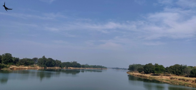 The Indravati river upstream