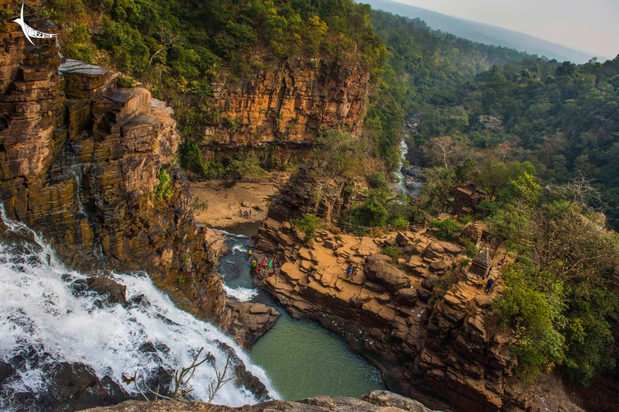 Tirathgarh Waterfalls and the gorge below