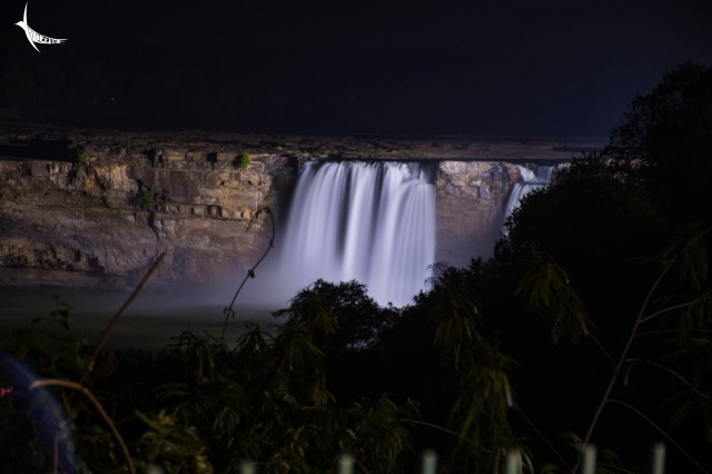 Chitrakote Waterfalls at night