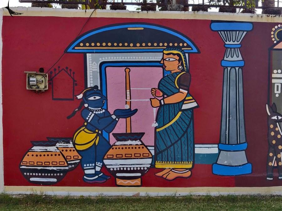 Beautiful murals in Muktangan