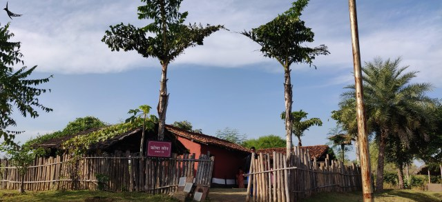 Replica of a tribal village in Purkhouti Muktangan