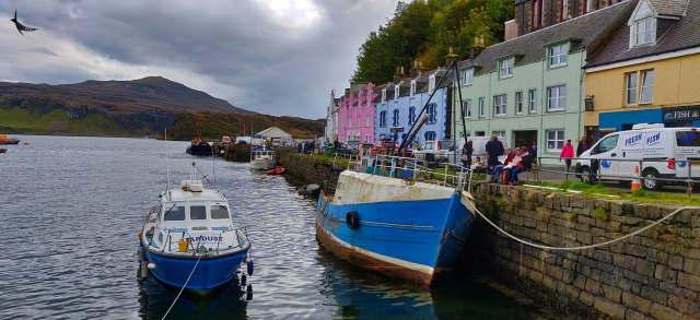 The colourful Portree Harbour