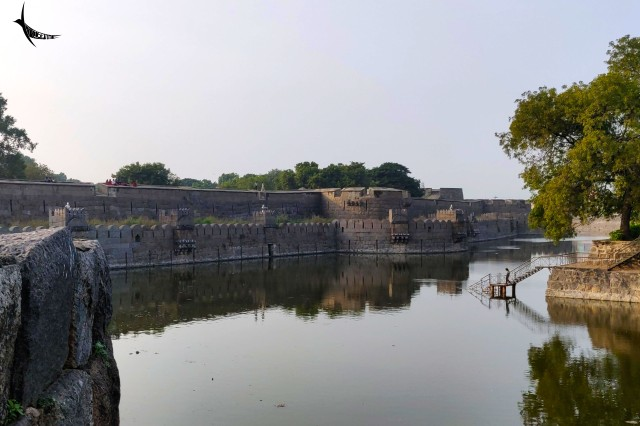 The outer moat of the Fort