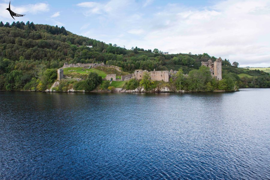Loch Ness with the Urquhart Castle in the background