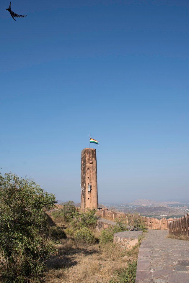 The watch tower in Jaigarh Fort