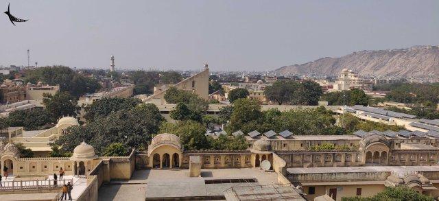 View of Jantar Mantar from Hawa Mahal
