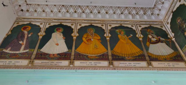Portraits of Kachhwaha rulers at Albert Hall